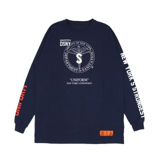 DSNY JERSEY T-SHIRT L/S / Dark Blue/White