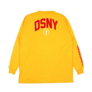 DSNY JERSEY T-SHIRT LS / Yellow/White