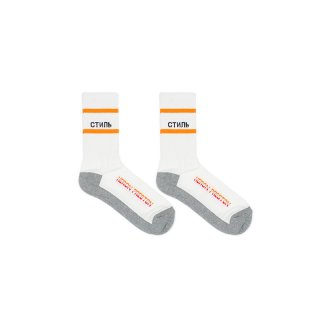 CTNMB MULTI-RIB SOCKS / White/Black