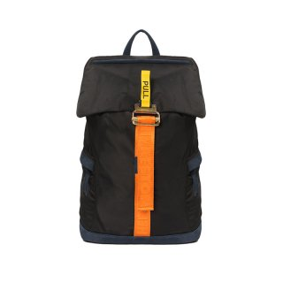 TAPE NYLON BACKPACK / Black/Orange