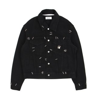 STAPLED DENIM JACKET / Black