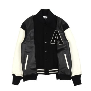 HUES VARSITY JACKET / Black
