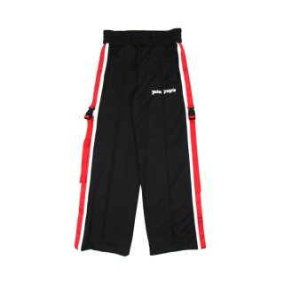 SIDE TAPE WIDE LEG TRACK PANTS