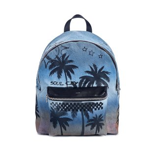 Palm Denim Backpack