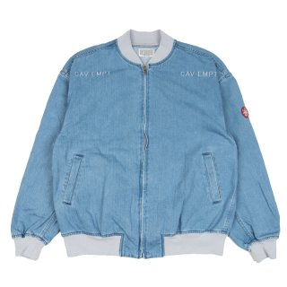 BLEACHED DENIM ZIP JACKET