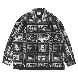 FRAME PRINTED SHIRT JACKET