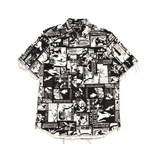 XXX RAW-EDGE BUTTON-UP SHIRT