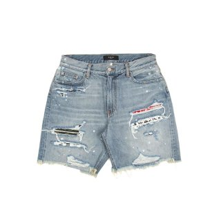 Art Patch Denim Shorts