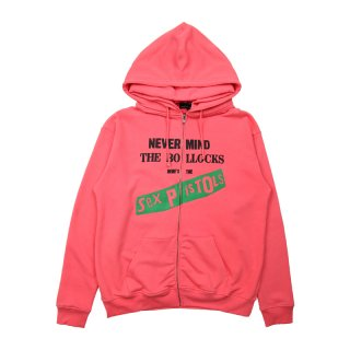 SEX PISTOLS HULL ZIP DOUBLE HOODY / PINK