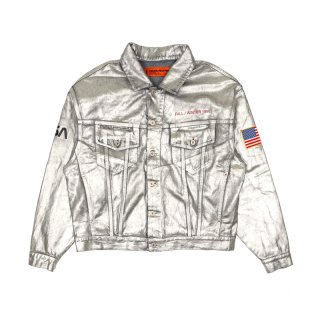NASA SILVER DENIM JACKET