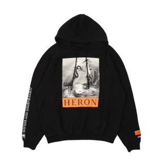 B&W HERONS HOODED SWEATSHIRT