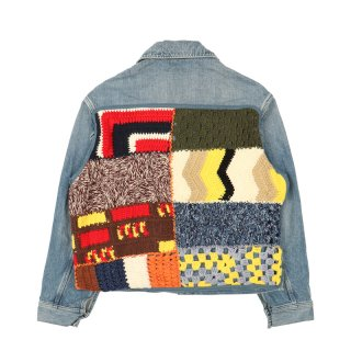 NOBO PATCHWORK DENIM JACKET
