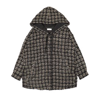 TWEED HOODED OVERSHIRT