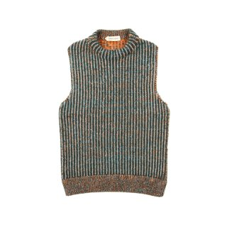 MULTICOLOR POLO KNIT VEST