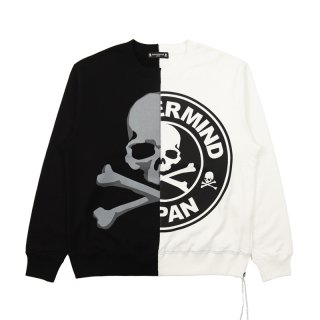 TWO TONE SKULL CREWNECK SWEATSHIRT