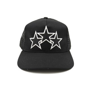 LEATHER STITCH TRUCKER HAT