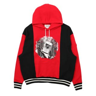 RIB PANELED HEAVY HOODY