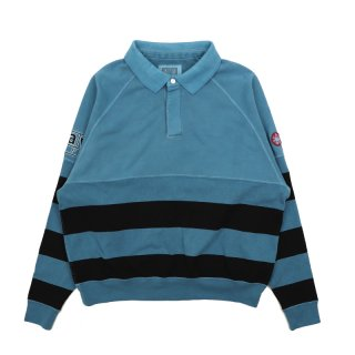 STRIPE COLLARED SWEAT