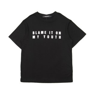 BIOMY BLACK KNIT T-SHIRT