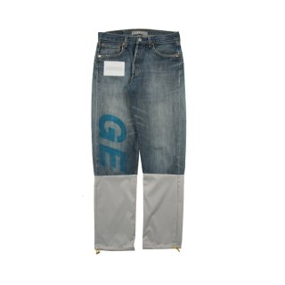 RECONSTRUCTED DENIM PANTS USED LEVIS 501