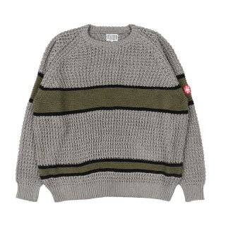 LINE LOOSE WAFFLE KNIT