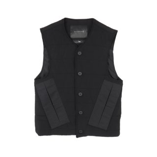 SLEEVELESS QUILTED COTTON VEST