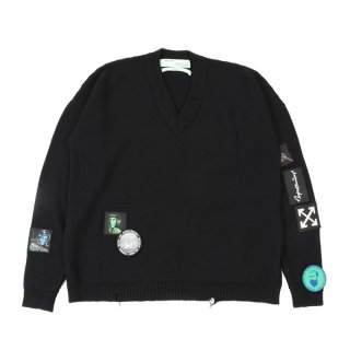 VINTAGE PUNK PATCH SWEATER