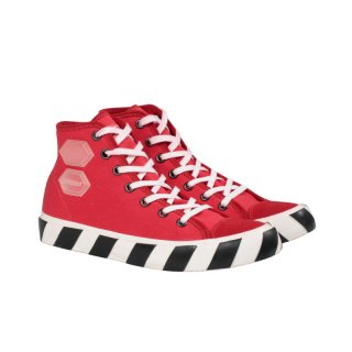 VULCANISED STRIPED HI TOP