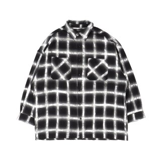 GLITTER OVERSIZED PLAID SHIRT