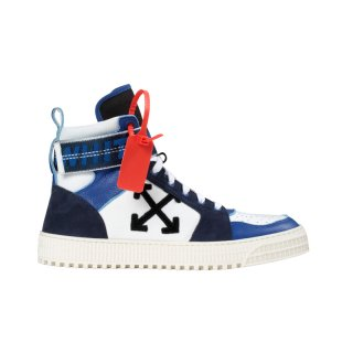 BLUE INDUSTRIAL BELT HI TOP SNEAKERS