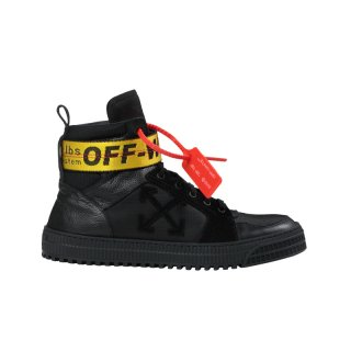 BLACK INDUSTRIAL BELT HI TOP SNEAKERS