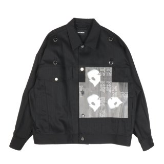 DENIM JACKET WITH RING BOLD HEAD