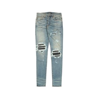 MX1 LEATHER PATCH JEANS