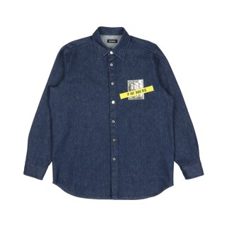 CARRYOVER DENIM SHIRT WITH TAPE & PATCH