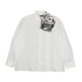 CROPPED SHIRT WITH ASYMMETRICAL DETAIL PUNKETTE