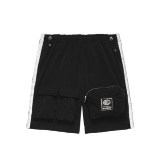 UTILITY SHORTS BLACK NYLON