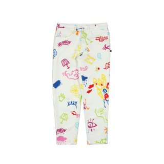 ALL OVER SKETCHES CARROT JEANS