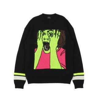 SCARED FACE SWEATER