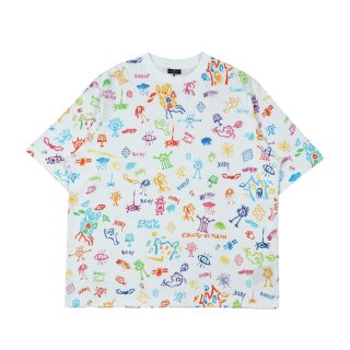ALL OVER SKETCH OVER T-SHIRT
