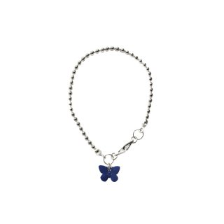 BALL WALLET CHAIN WITH BLUE  BUTTERFLY