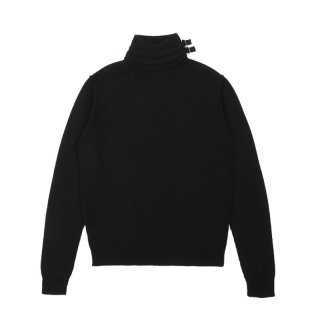 TURTLE NECK KNITTED SWEATER WITH DOUBLE STRAPS