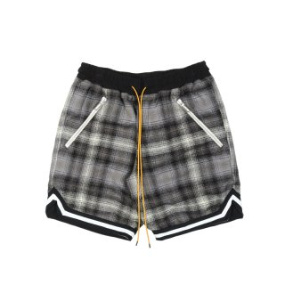 BASKETBALL PLAID SHORTS