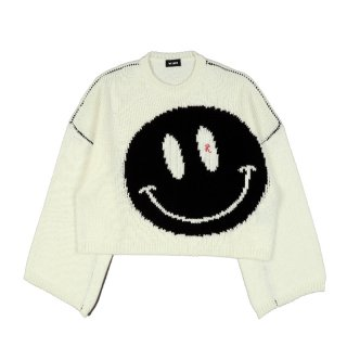 OVERSIZED ROUNDNECK SWEATER WITH SMILEY