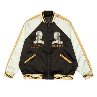 TEAM WORK REVERSIBLE SATIN JACKET