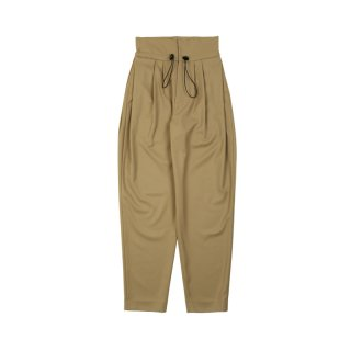 OVERSIZED WAIST BAND 3 TUCK PANTS