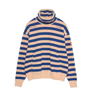 STRIPE STAND COLLAR SWEAT