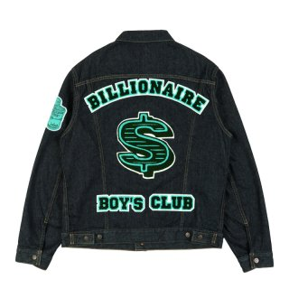 DOLLAR CHENILL PATCH DENIM JACKET