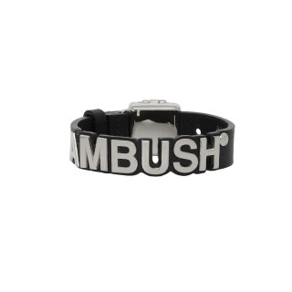 LEATHER NAMEPLATE BRACELET