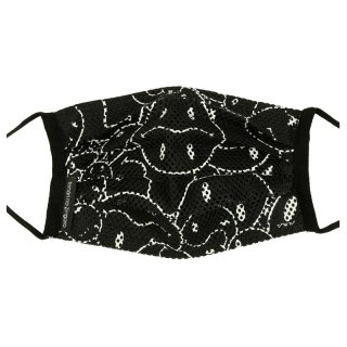 MESH SMILEY PATTERN MASK