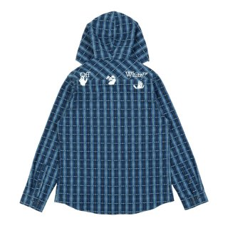 HOODIE FLANNEL CHECK SHIRT